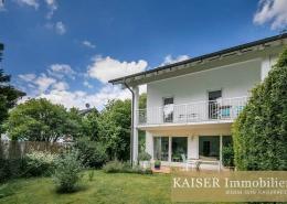 Doppelhaushälfte Starnberg, Gartenansicht, Kaiser Immobilien